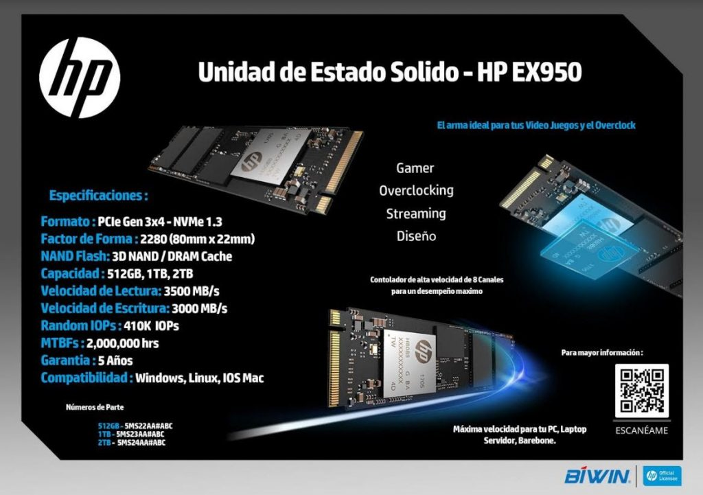 HP EX950